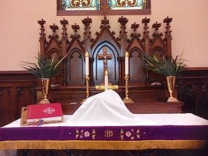 Palm Sunday Altar Setting