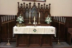 Our Altar at Easter