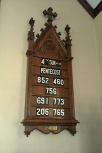 Click the Hymn Board picture above to listen to this week's sermon