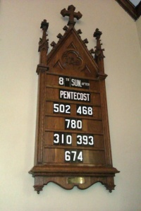 Listen to this week's sermon by clicking the above hymn board