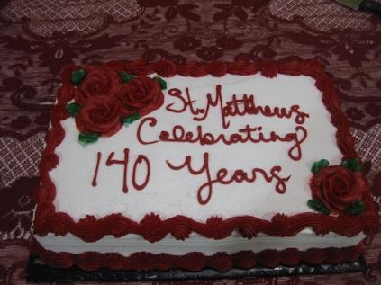 140th Anniversary Cake